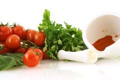 Verse groenten voor gezonde salade stock foto