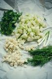 Verse groenten voor soep stock foto's