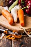 Verse groenten: wortelen en peterselie Royalty-vrije Stock Fotografie