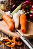 Verse groenten: wortelen en peterselie Royalty-vrije Stock Foto's