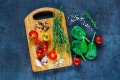Verse groenteningrediënten stock fotografie