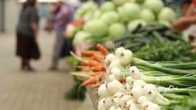 Verse Groentenmarkt stock videobeelden