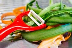 Verse groentenpellings Royalty-vrije Stock Foto's
