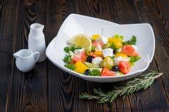 Verse groentesalade stock foto's