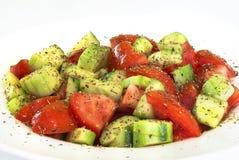 Verse groentesalade met tomaat, royalty-vrije stock foto's