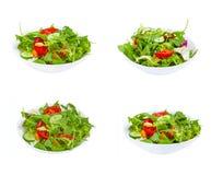 Verse groentesalade in plaat stock afbeeldingen
