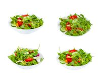 Verse groentesalade in plaat royalty-vrije stock fotografie