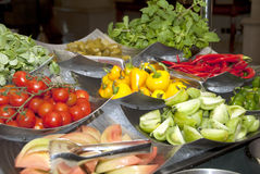 Verse groenteselectie Stock Fotografie