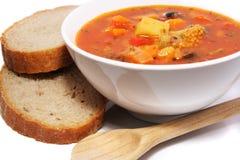 Verse groentesoep stock foto