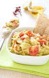 Verse guacamole met tomaten royalty-vrije stock foto