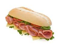 Verse ham & Zwitserse subsandwich Stock Afbeeldingen