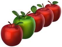Verse heerlijke appelen. Het concept van de leiding Royalty-vrije Stock Foto