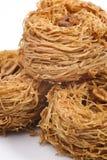 Verse heerlijke Arabische snoepjes, kanafeh Stock Fotografie