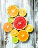 Verse heldere citrusvrucht royalty-vrije stock foto