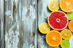 Verse heldere citrusvrucht royalty-vrije stock afbeelding