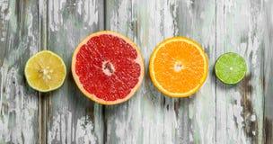 Verse heldere citrusvrucht stock fotografie