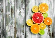Verse heldere citrusvrucht stock foto's
