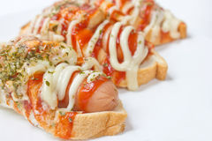 Verse Hotdogs met Broden. Royalty-vrije Stock Foto's