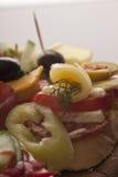 Verse ingrediënten op een buffet Stock Foto's