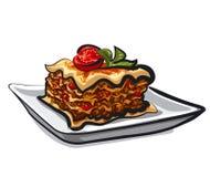 Gebakken lasagna's royalty-vrije illustratie