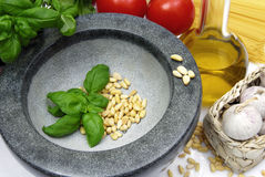Verse Italiaanse Pesto Stock Foto's