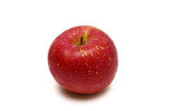 Verse Japanse die appel op wit wordt geïsoleerd Royalty-vrije Stock Foto's