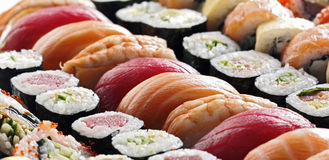 Verse Japanse sushi Stock Foto's
