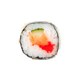 Verse Japanse sushibroodjes op een witte achtergrond Royalty-vrije Stock Afbeeldingen