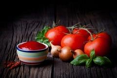 Verse ketchup Royalty-vrije Stock Afbeeldingen