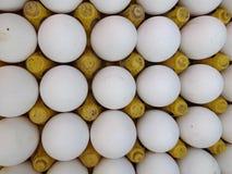 Verse kippeneieren bij Indische Straatmarkt Stock Afbeelding