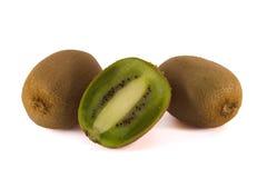 Verse kiwi drie Royalty-vrije Stock Afbeeldingen