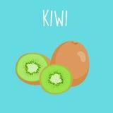 Verse kiwi op blauwe balckground Royalty-vrije Illustratie
