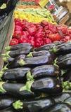 Verse kleurrijke groenten op een Israëlische Markt royalty-vrije stock afbeeldingen