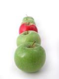 Verse knapperige appelen royalty-vrije stock afbeeldingen