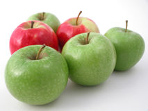 Verse knapperige appelen royalty-vrije stock foto's