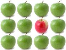 Verse knapperige appelen royalty-vrije stock afbeelding