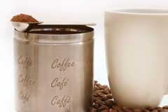 Verse koffie Royalty-vrije Stock Foto