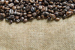 Verse koffiebonen, selectieve nadruk Royalty-vrije Stock Foto