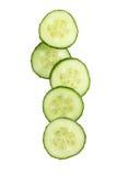 Verse Komkommerplakken royalty-vrije stock afbeelding