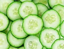Verse komkommerplakken royalty-vrije stock foto's