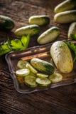 Verse komkommerplakken Stock Foto