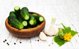 Verse komkommers Stock Afbeelding