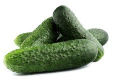 Verse komkommers op wit Royalty-vrije Stock Afbeelding