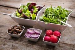 Verse kruidenierswinkels voor salade Royalty-vrije Stock Afbeeldingen