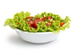 Verse lichte salade met kersentomaten en bieslook Stock Foto