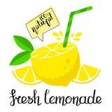 Verse limonadeaffiche stock illustratie