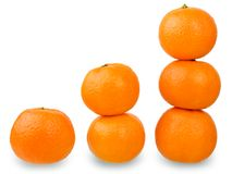 Verse mandarijnen Royalty-vrije Stock Foto's
