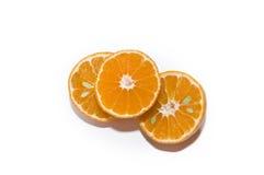 Verse mandarijnplakken Stock Foto