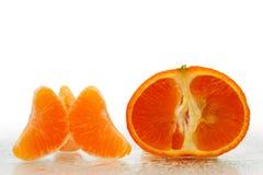 Verse mandarijnVruchten met plakken Stock Afbeelding