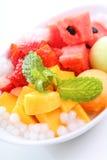 Verse mango en watermeloen Stock Foto's